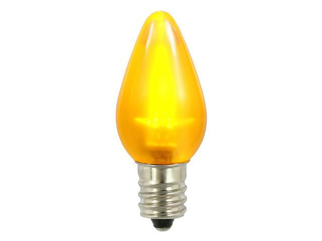Club Pack of 25 Yellow LED C7 Satin Christmas Replacement Bulbs