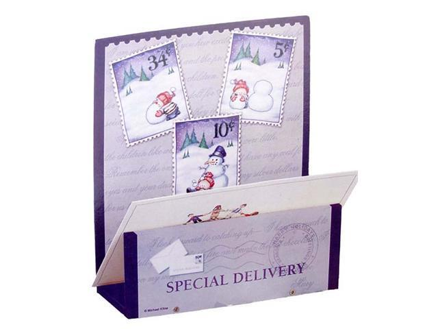 Club Pack of 72 Wooden Special Delivery Snowman Christmas Card Holders