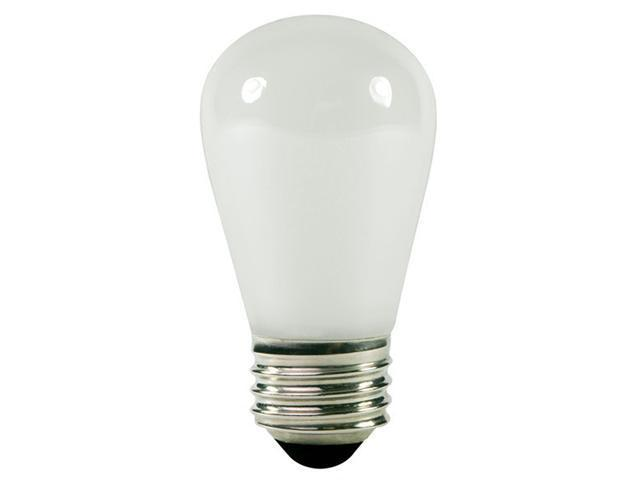Club Pack of 25 Opaque White  E26 Base Replacement S14 Light Bulbs - 11 Watts