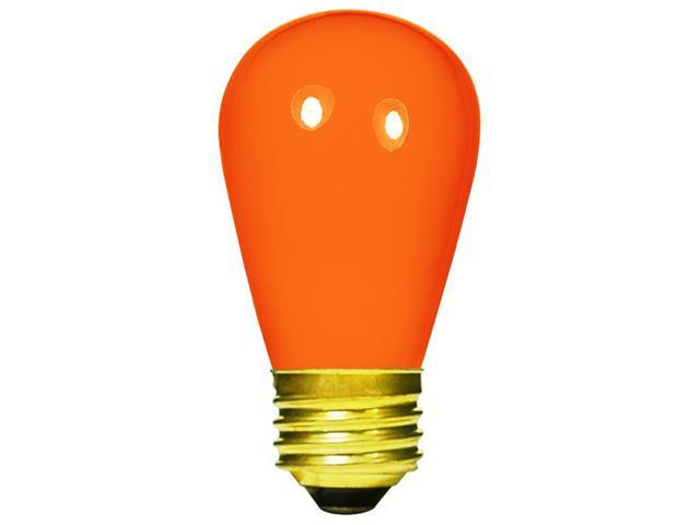 Club Pack of 25 Opaque Orange E26 Base Replacement S14 Light Bulbs - 11 Watts