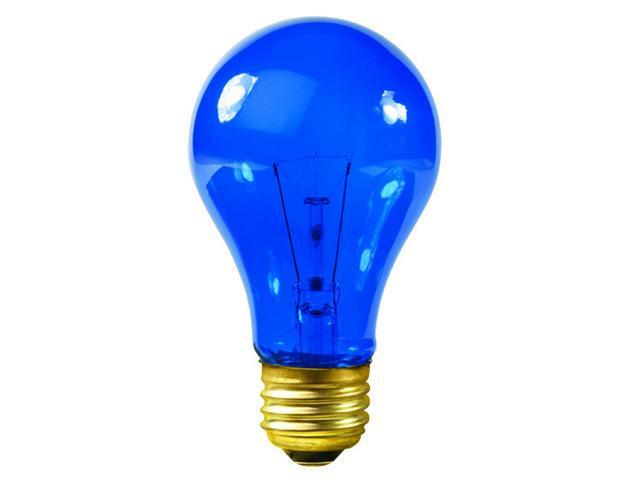 Club Pack of 25 Transparent Blue E26 Base Replacement A19 Light Bulbs - 25 Watts