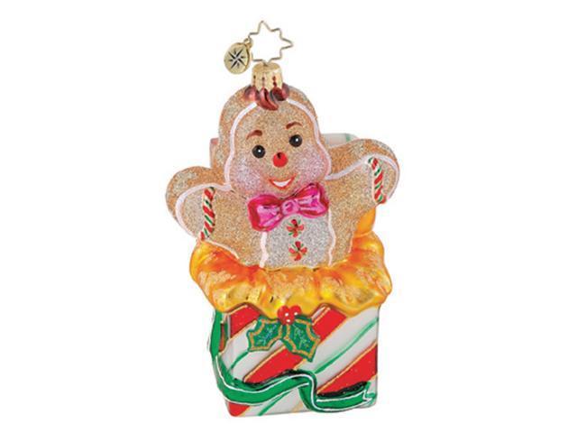 Christopher Radko Sweet Surprise Gingerbread Christmas Ornament #1014942