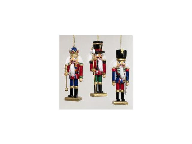 Club Pack of 12 Wooden Nutcracker Soldier and Guard Christmas Ornaments 5