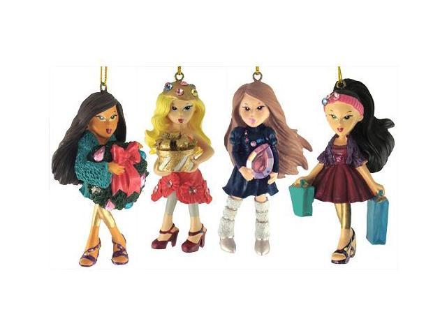 Set of 4 Bratz Kloe, Sasha, Yashim & Jade Christmas Ornaments