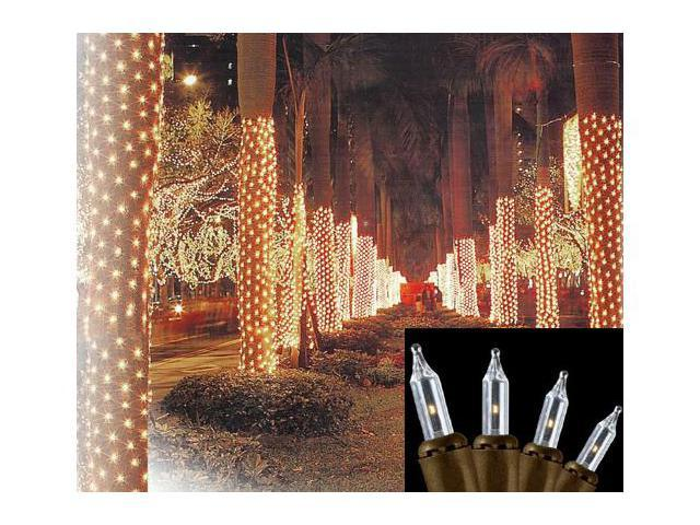 String Lights Around Tree Trunk : 2 x8 Clear Mini Net Style Tree Trunk Wrap Christmas Lights - Brown Wire - Newegg.com