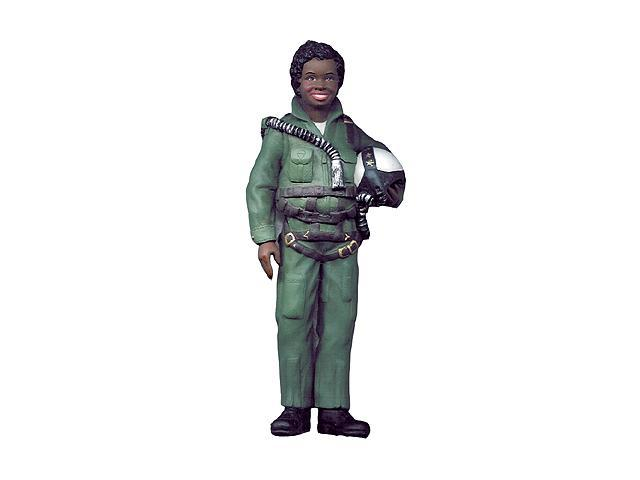 Patriotic African American Woman USA Air Force Christmas Ornament #W9747