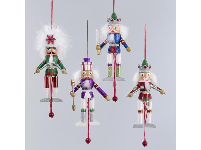Pack of 8 Christmas Nutcracker Pull Puppet Ornaments 5