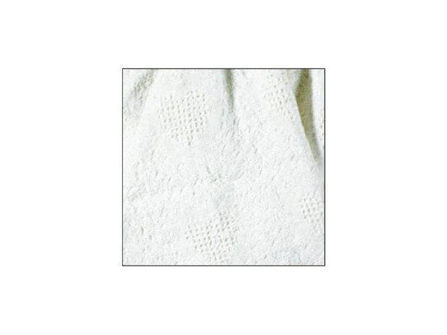 """White Honeycomb Heart Mini Afghan Throw Blanket 36"""" x 48"""""""