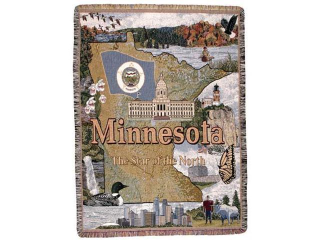 State of Minnesota Tapestry Throw Afghan 50