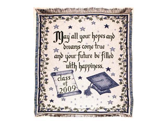 New Graduate Class of 2009 Graduation Gift Afghan Throw Blanket 48