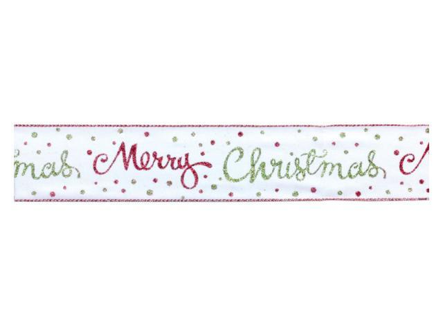 6 Polka Dotted And Embroidered Decorative Christmas Ribbon 2.5