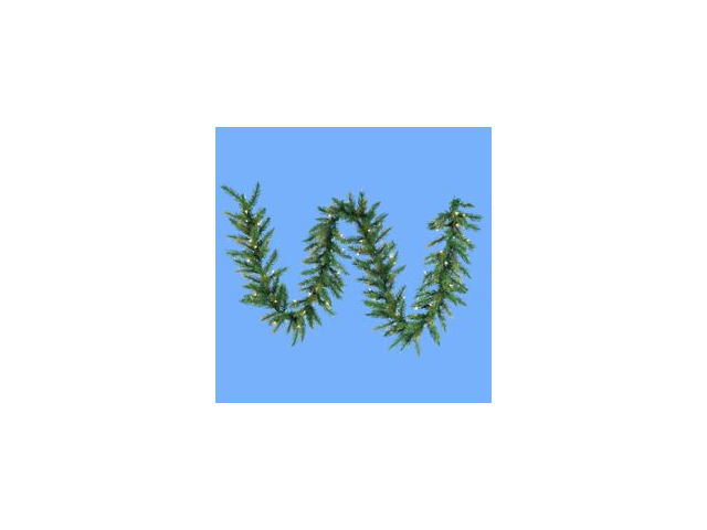 9' Pre-lit Designer Classic Green Artificial Christmas Garland - Clear Lights