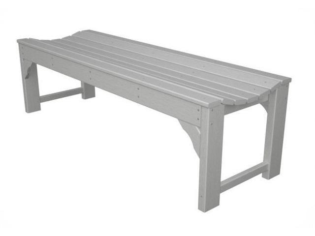 """60"""" Recycled Earth-Friendly Outdoor Patio and Garden Backless Bench - White"""
