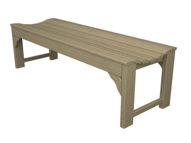 """60"""" Recycled Earth-Friendly Outdoor Patio and Garden Backless Bench - Sand Brown"""