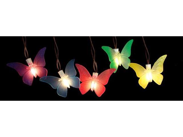 String Lights Under Umbrella : Set of 10 Battery Operated LED Butterfly Garden Patio Umbrella Lights with Timer-Newegg.com