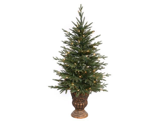 4' Pre-Lit Potted Norwood Fir Artificial Christmas Tree