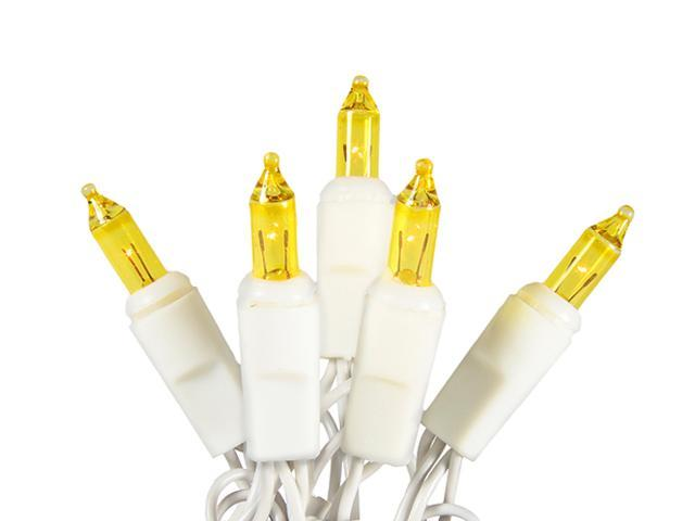 Set of 20 Battery Operated Gold Mini Christmas Lights - White Wire