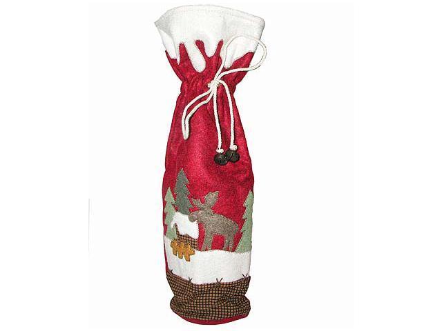 """17"""" Moose Lodge Wine Bottle Gift Bag"""