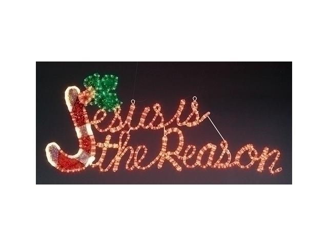 Jesus is the Reason Lighted Duralight Christmas Holiday Yard Art