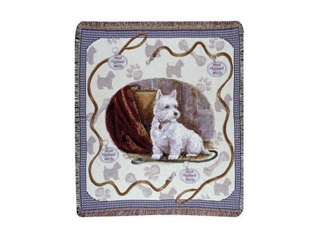 West Highland Terrier Dog Tapestry Throw By Artist Pat Lehmkuhl 50