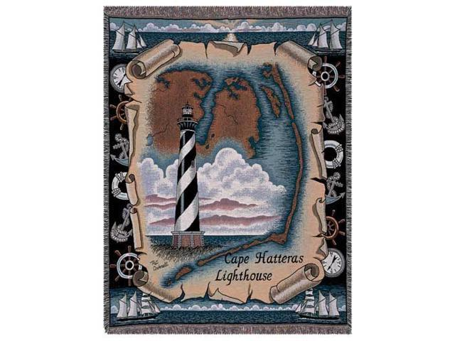 Cape Hatteras North Carolina Lighthouse Tapestry Throw Blanket 50