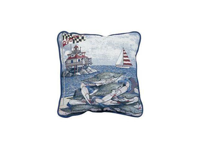 "Maryland Blue Crab Decorative Accent Throw Pillow 17"" x 17"""