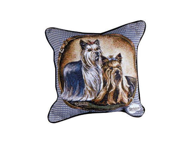 "Yorkshire Terrier Yorkie Dog Animal Decorative Throw Pillow 17"" x 17"""