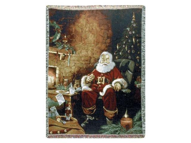 Santa's Treats Christmas Tapestry Throw Blanket 50