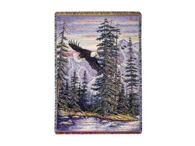 "Soaring Bald Eagle ""Majestic Flight"" Decorative Afghan Throw Blanket 50"" x 70"""