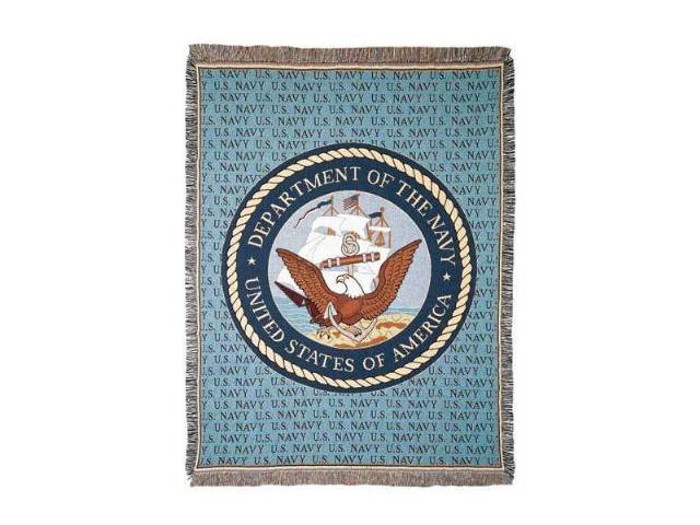 United States Department of the Navy Military Afghan Throw Tapestry - 50