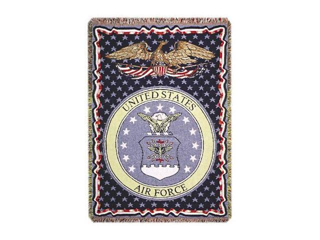 "U.S. Air Force Insignia 3 Layer Afghan Throw Blanket 50"" x 70"""