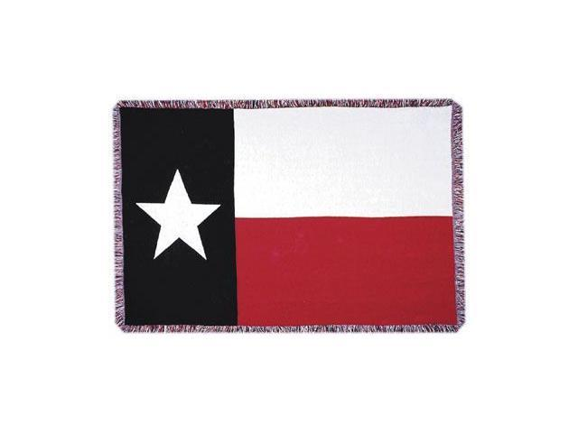 Texas State Flag 3 Layer Afghan Throw Blanket 50