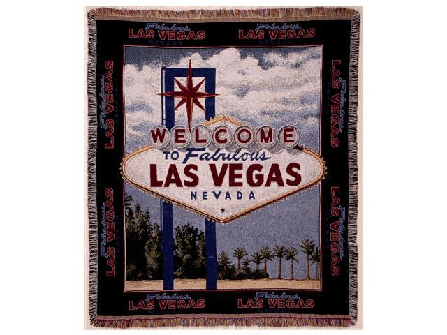 Welcome to Las Vegas Sign Tapestry Throw Afghan 50