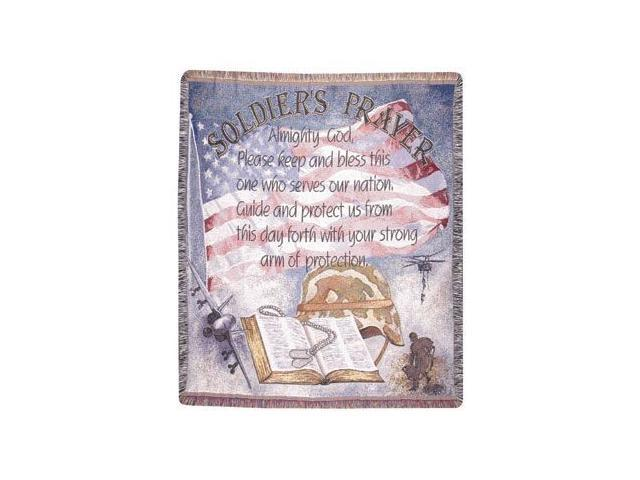 Soldier's Prayer Military Religious Tapestry Throw Afghan 50