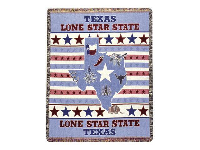Texas Lone Star State Tapestry Throw Afghan 50