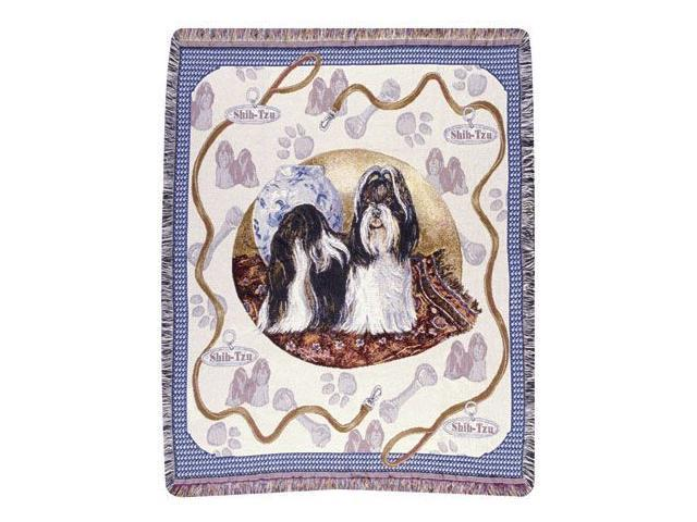 Shih-Tzu Dog Tapestry Throw By Artist Pat Lehmkuhl 50