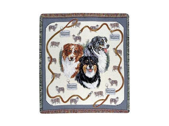 Australian Shepard Dog Tapestry Throw 50