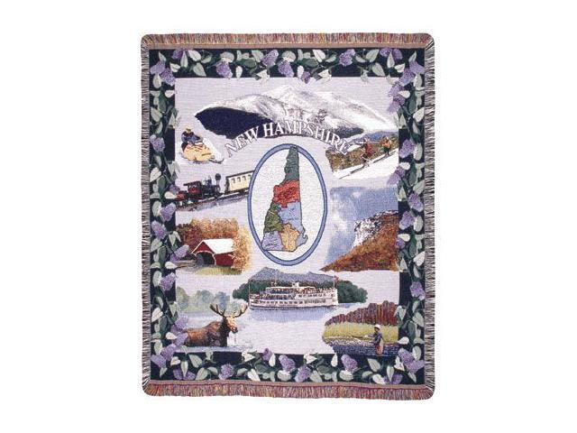 State of New Hampshire Pictoiral Tapestry Throw Afghan 50