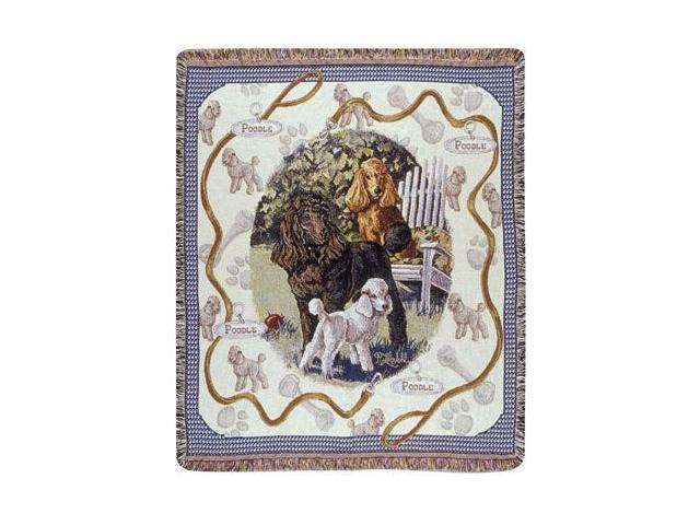 Poodle Dog Tapestry Throw By Artist Pat Lehmkuhl 50