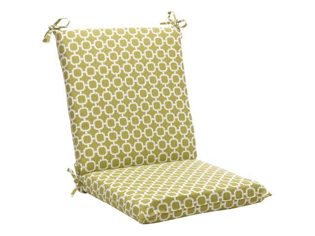 "36.5"" Eco-Friendly Recycled Square Outdoor Chair Cushion - Geometric Green"