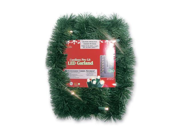 18 39 pre lit battery operated green pine artificial for Lit 09 battery