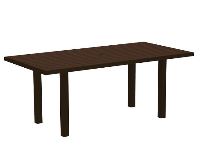 "72"" Recycled Earth-Friendly Patio Dining Table - Mahogany with Bronze Frame"