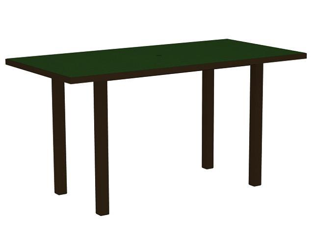 """72"""" Recycled Earth-Friendly Patio Counter Table - Green with Bronze Frame"""