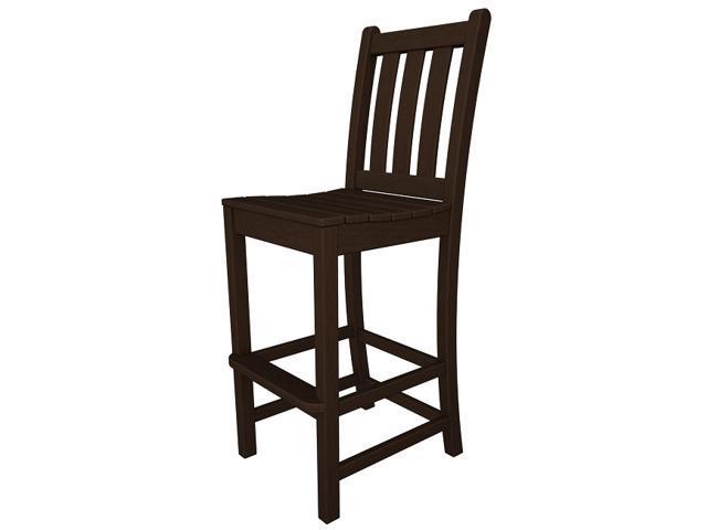"47.75"" Recycled Earth-Friendly Patio Garden Bar Dining Chair - Mahogany"