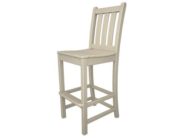 """47.75"""" Recycled Earth-Friendly Patio Garden Bar Dining Chair - Sand Brown"""