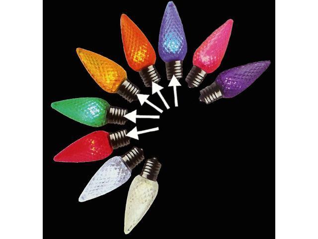 pack of 25 led c7 multi color replacement christmas light. Black Bedroom Furniture Sets. Home Design Ideas