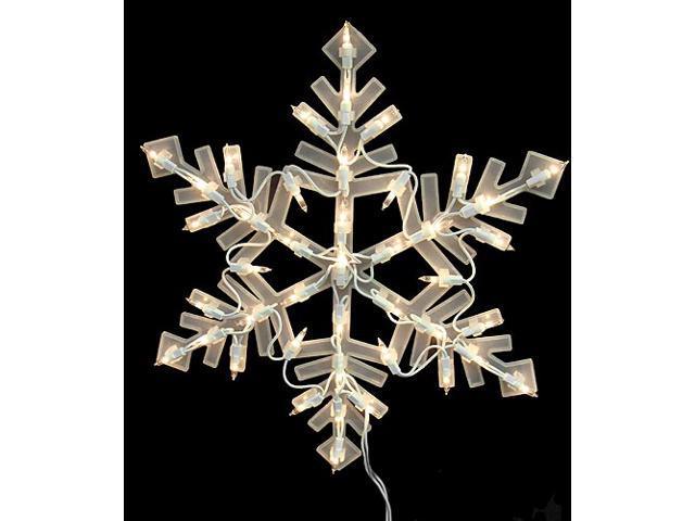 "16"" Lighted Snowflake Christmas Window Silhouette Decoration"