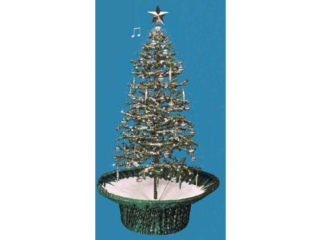 6' Pre-Lit Musical Snowing Artificial Christmas Tree With