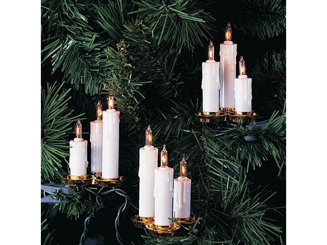 Triple Tier White Candle Christmas Light Set