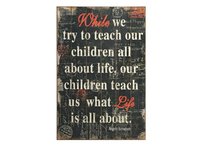 Wooden Wall Decor With Quotes : Quot inspirational parenting quote wooden wall decor
